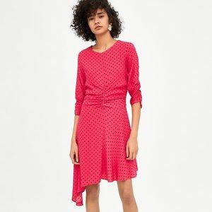Zara pink polka dot dress sz Small & Medium NWT